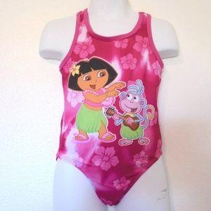 Nickelodeon swim dora the explorer hawaiian look suit 4t - Dora a la plage ...